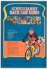 San Remo Original Vintage Bicycle Poster - East German Movie Comedy from 1968