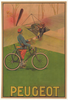 Peugeot Airplane Original Vintage Bicycle Poster