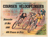 Courses Velocipediques  Original Vintage Bicycle Poster by MAC
