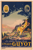 Cycles Guyot Original Vintage Bicycle Poster