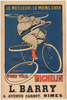Pneu Velo Michelin Original Vintage Bicycle Poster by HL Roowy