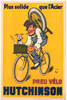 Pneu Velo Hutchinson Original Vintage Bicycle Poster by Mich