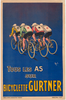 Bicyclette Gurtner Original Vintage Bicycle Poster by Mich
