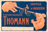 Bicyclette Thomann Original Vintage Bicycle Poster