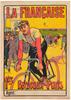 La Francaise Bordeaux-Paris Original Vintage Bicycle Poster by Marodon