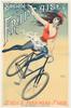 Societe La Francaise Original Vintage Bicycle Poster by PAL