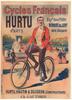 Cycles Francais Hurtu Original Vintage Bicycle Poster by Oge