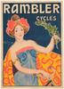 Rambler Cycles Original Vintage  Bicycle Poster by Cardona