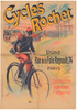 Cycles Rochet Original Vintage  Bicycle Poster by Lefevre