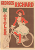 Georges Richard Cycles Vintage Bicycle Poster by Fernel