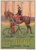 Cycles Peugeot Original Vintage  Bicycle Poster by Vuluemin