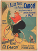 Caron Original Vintage Bicycle Poster by Thor