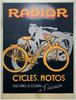 Radior Original Vintage  Bicycle Poster