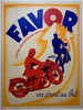 Favor Original Art Deco Vintage Bicycle Poster by Mathey