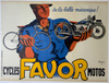 Cycles Favor Original Vintage  Bicycle Poster by Bellenger