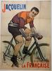 Jacquelin Original Vintage  Bicycle Poster