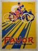 Favor Cycles Original Art Deco Vintage  Bicycle Poster by Prunieve