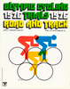 Olympic Cycling Trials 1976 Original Vintage Bicycle Poster