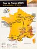 2005 Tour de France Original Vintage Map Bicycle Poster