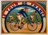 1930's Tour de France Game Board box cover poster