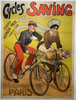 Cycles Saving Original Vintage Bicycle Poster