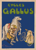 Cycles Gallus Original Vintage Bicycle Poster by Santini