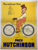 Pneu Hutchinson Original Vintage Bicycle Poster by Mich