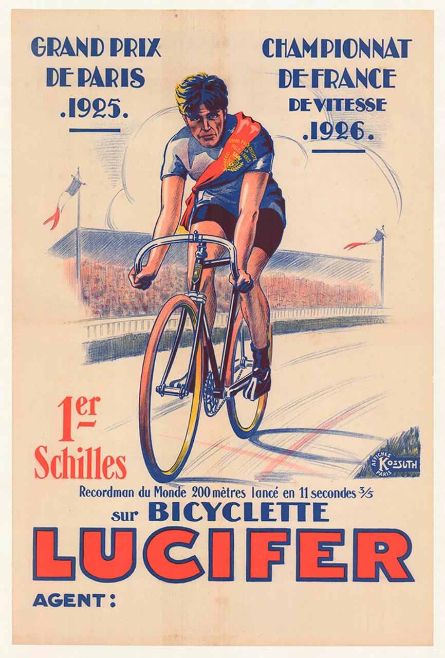 Lucifer Original Vintage Bicycle Poster - Racing
