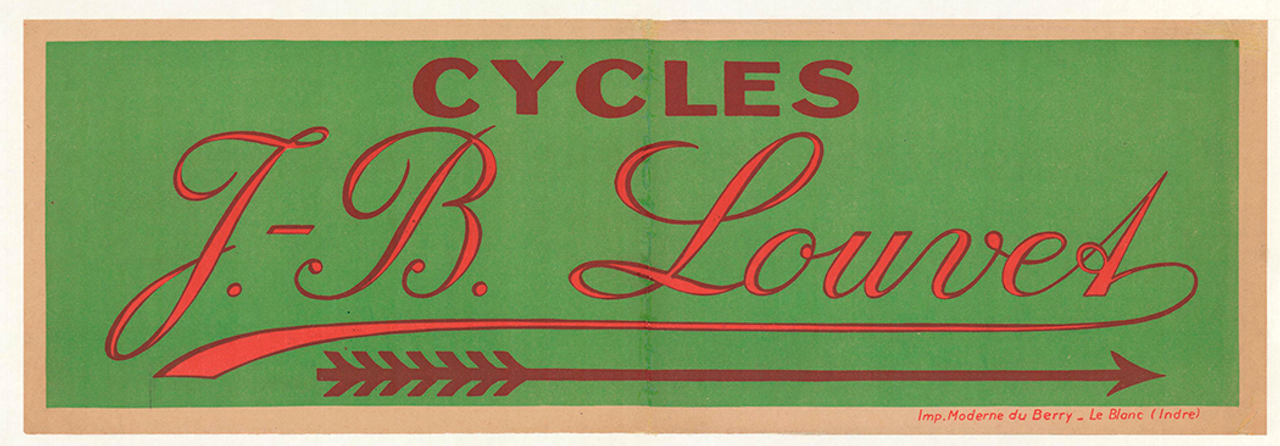Cycles J.B. Louvet Original Vintage Bicycle Poster