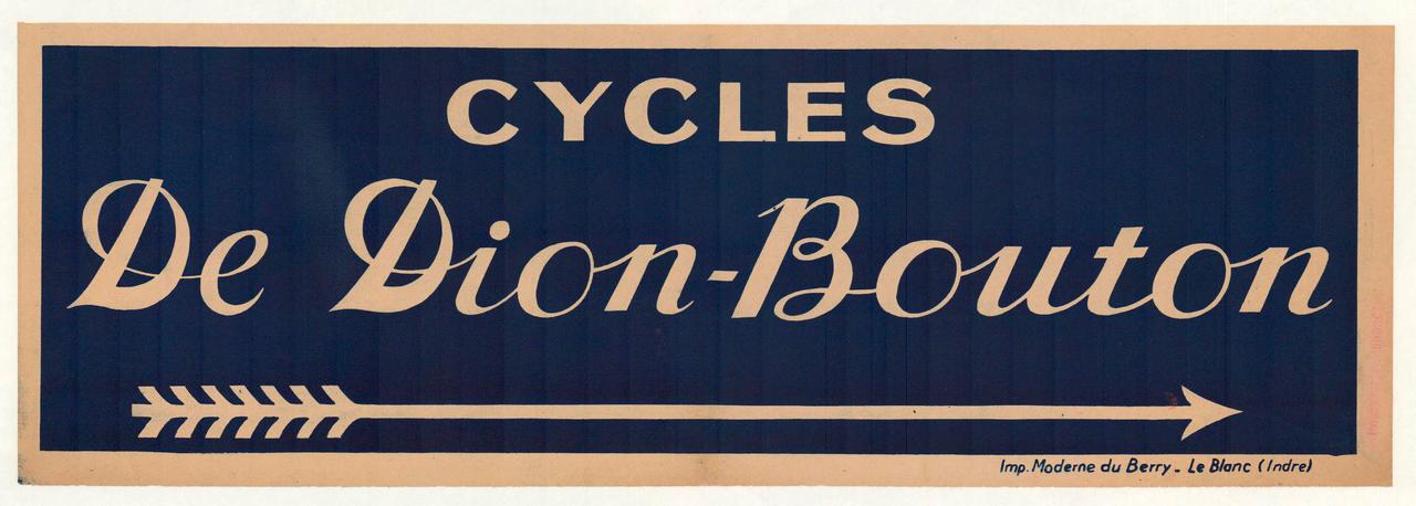 Cycles De Dion-Bouton Original Vintage Bicycle Poster