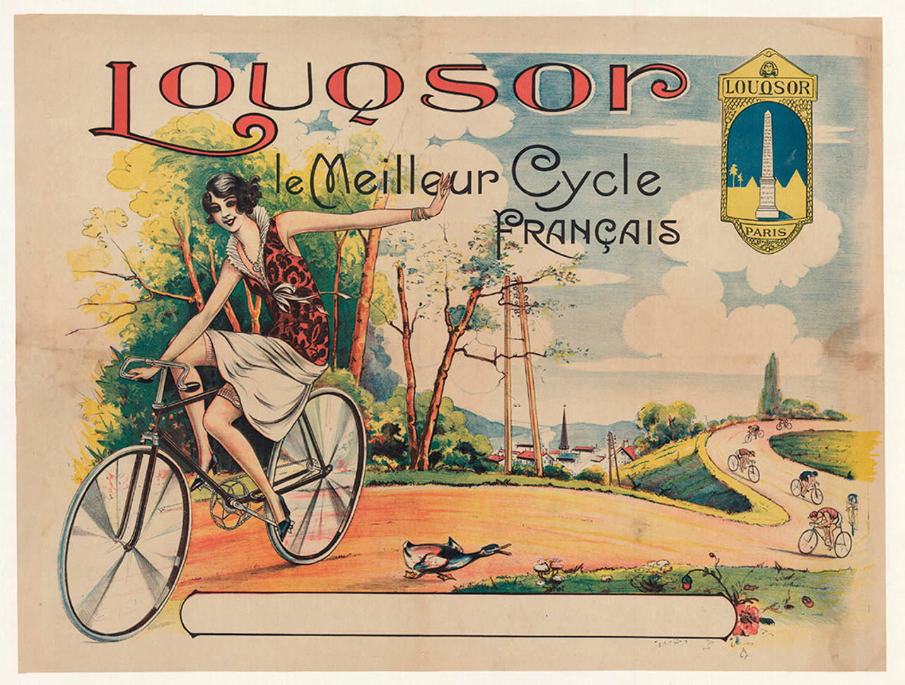 Louqsor Original Vintage Bicycle Poster