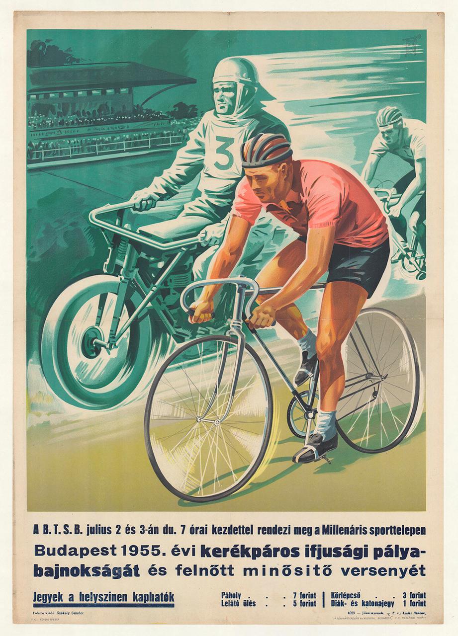 Youth Cup Original Vintage Bicycle Poster - Racing
