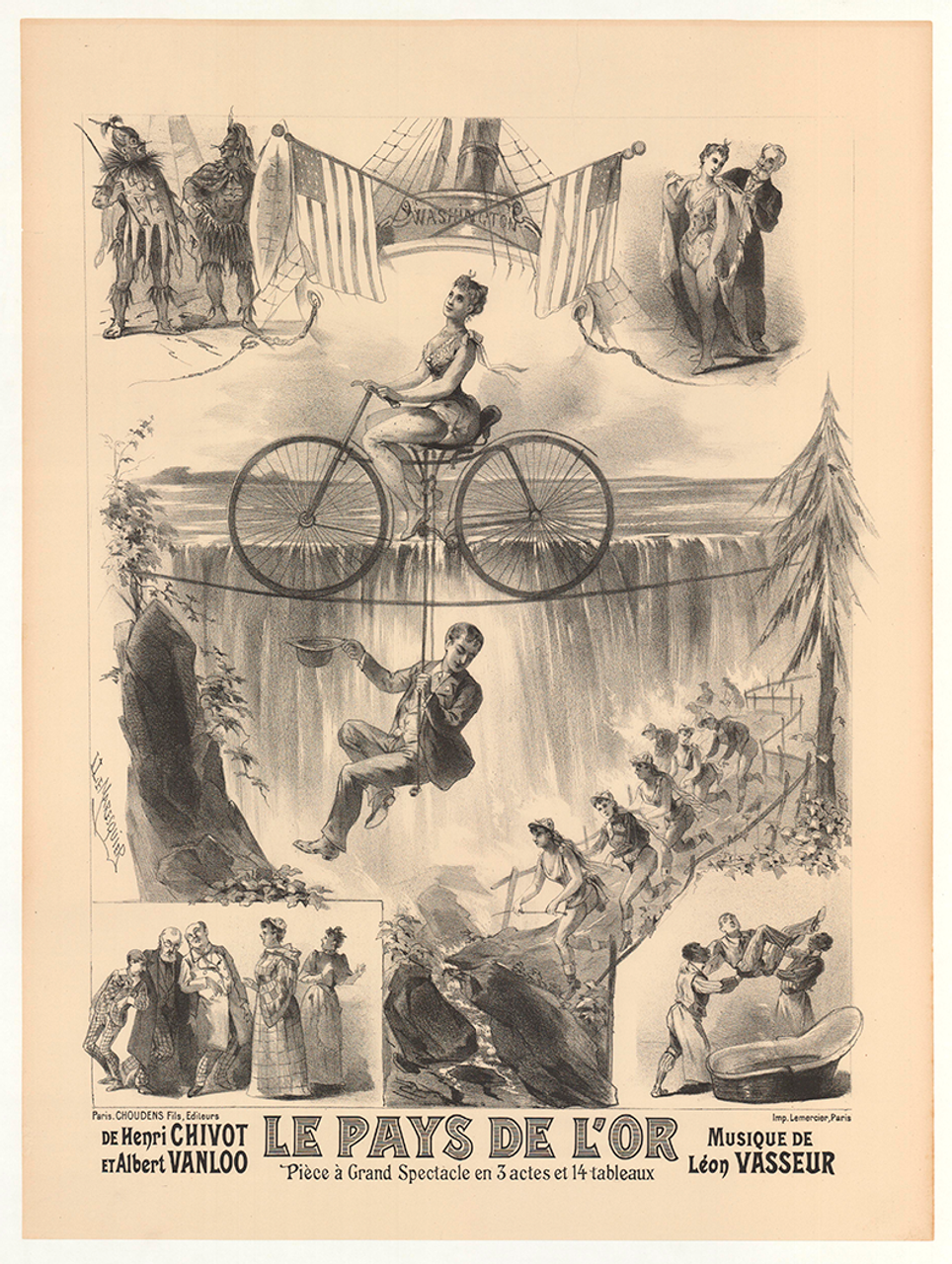 Le Pays de L'Or Original Vintage Bicycle Poster by Lemaresquier
