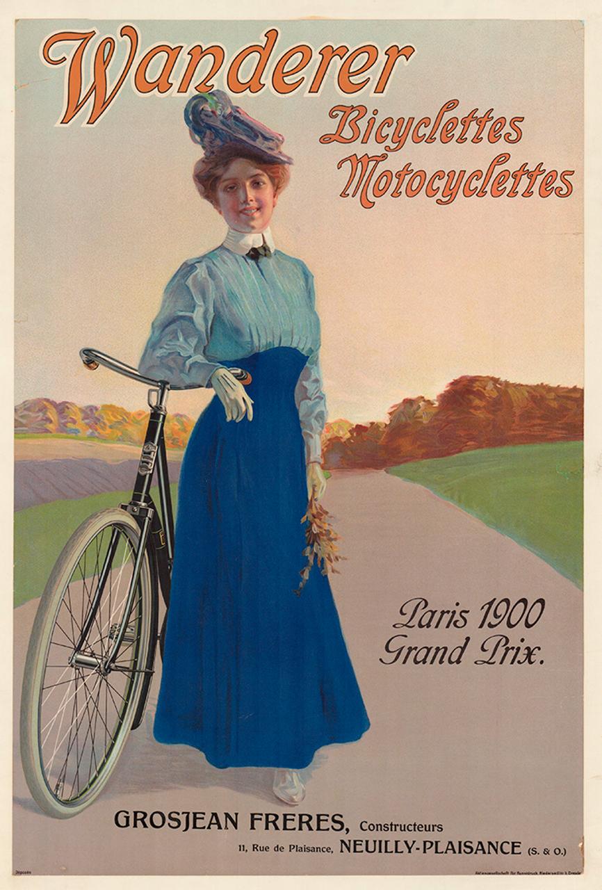 Wanderer Original Vintage German Bicycle Poster