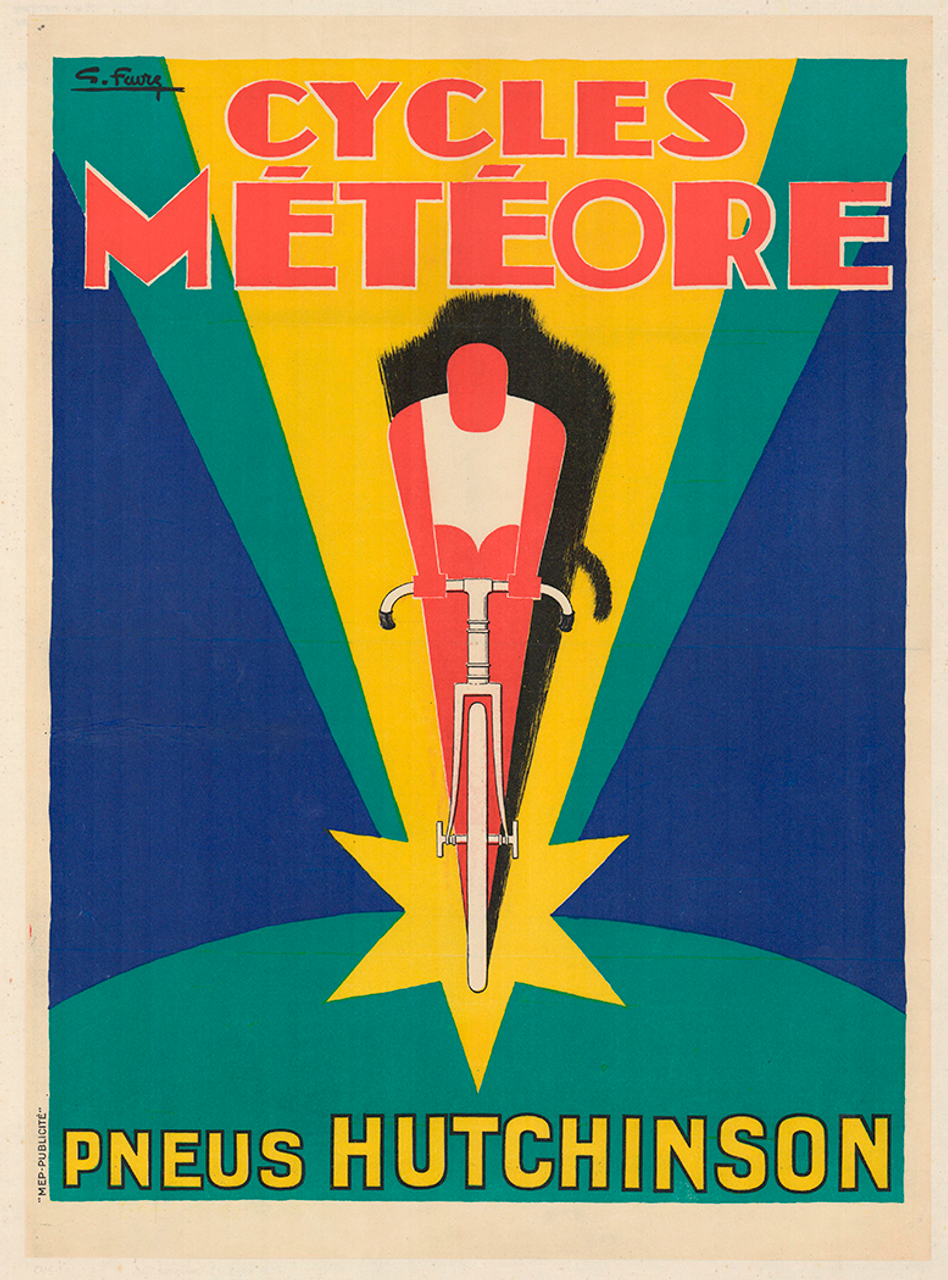 Cycles Meteore Original Vintage Bicycle Poster by Favre