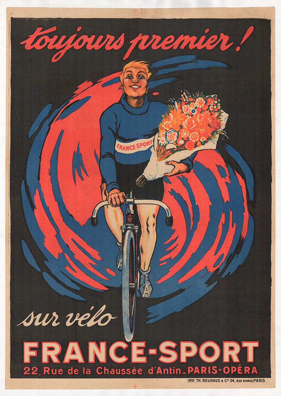 Sur Velo France-Sport Vintage Bicycle Poster