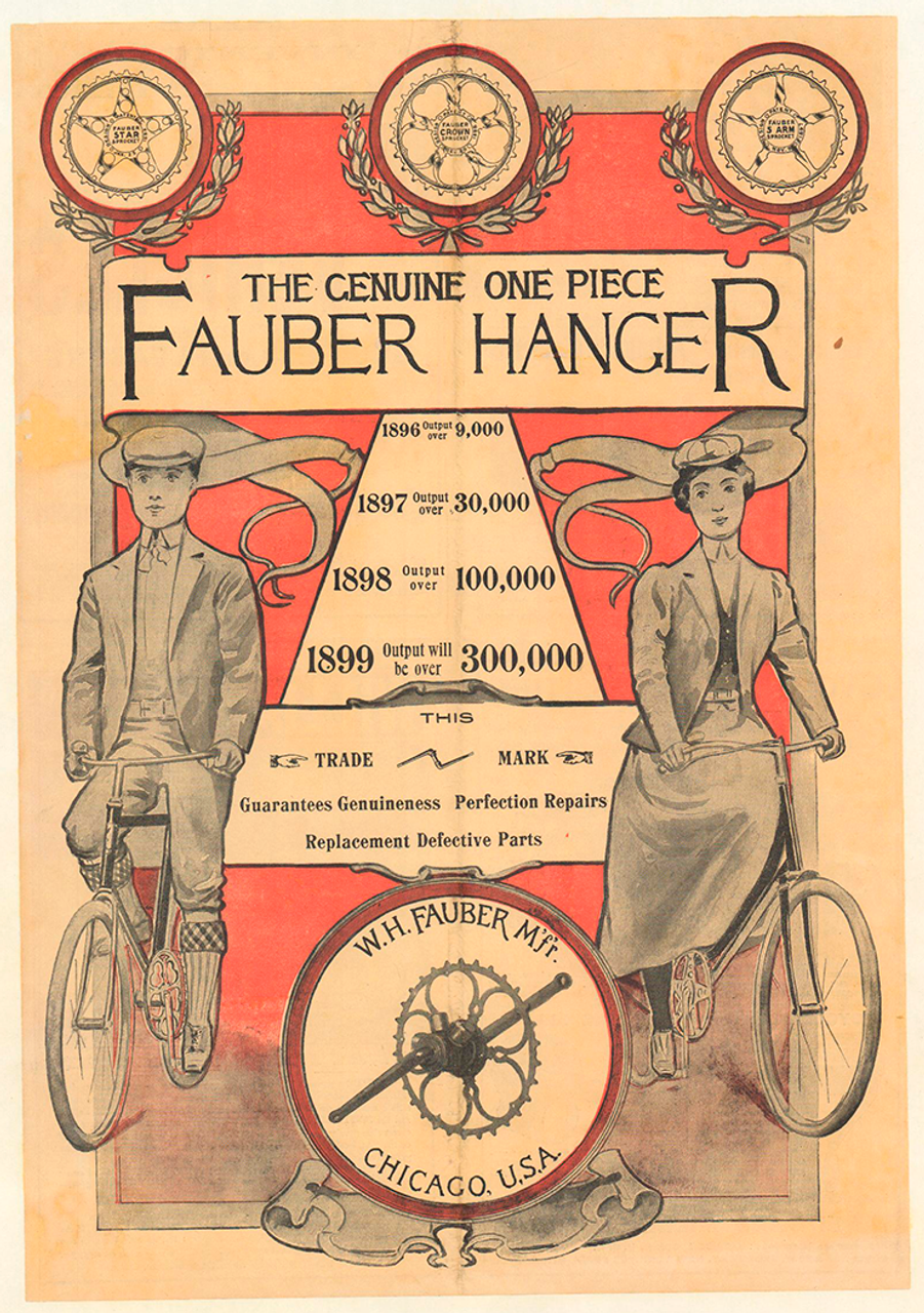 Fauber Hanger original Vintage Bicycle Poster