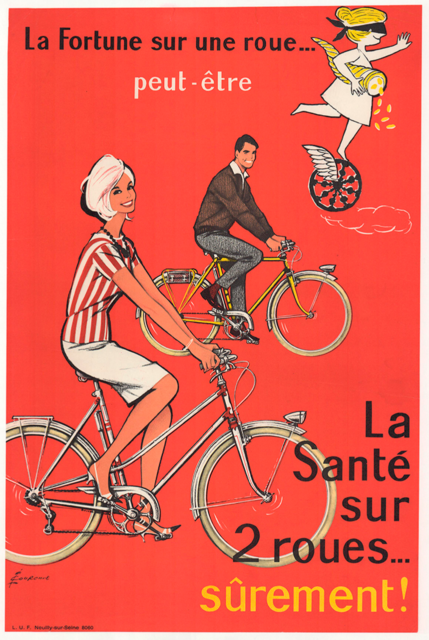 La Sante Original Vintage Bicycle Poster