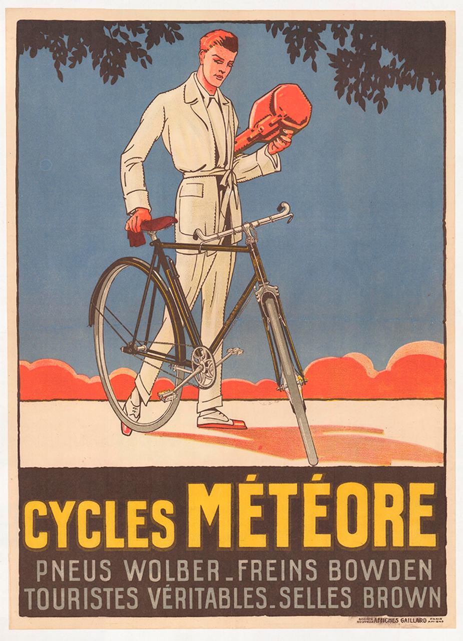 Cycles Meteore Original Vintage Bicycle Poster