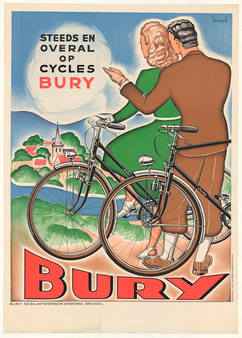 Cycles Meteore Original Vintage Bicycle Poster by Bernard