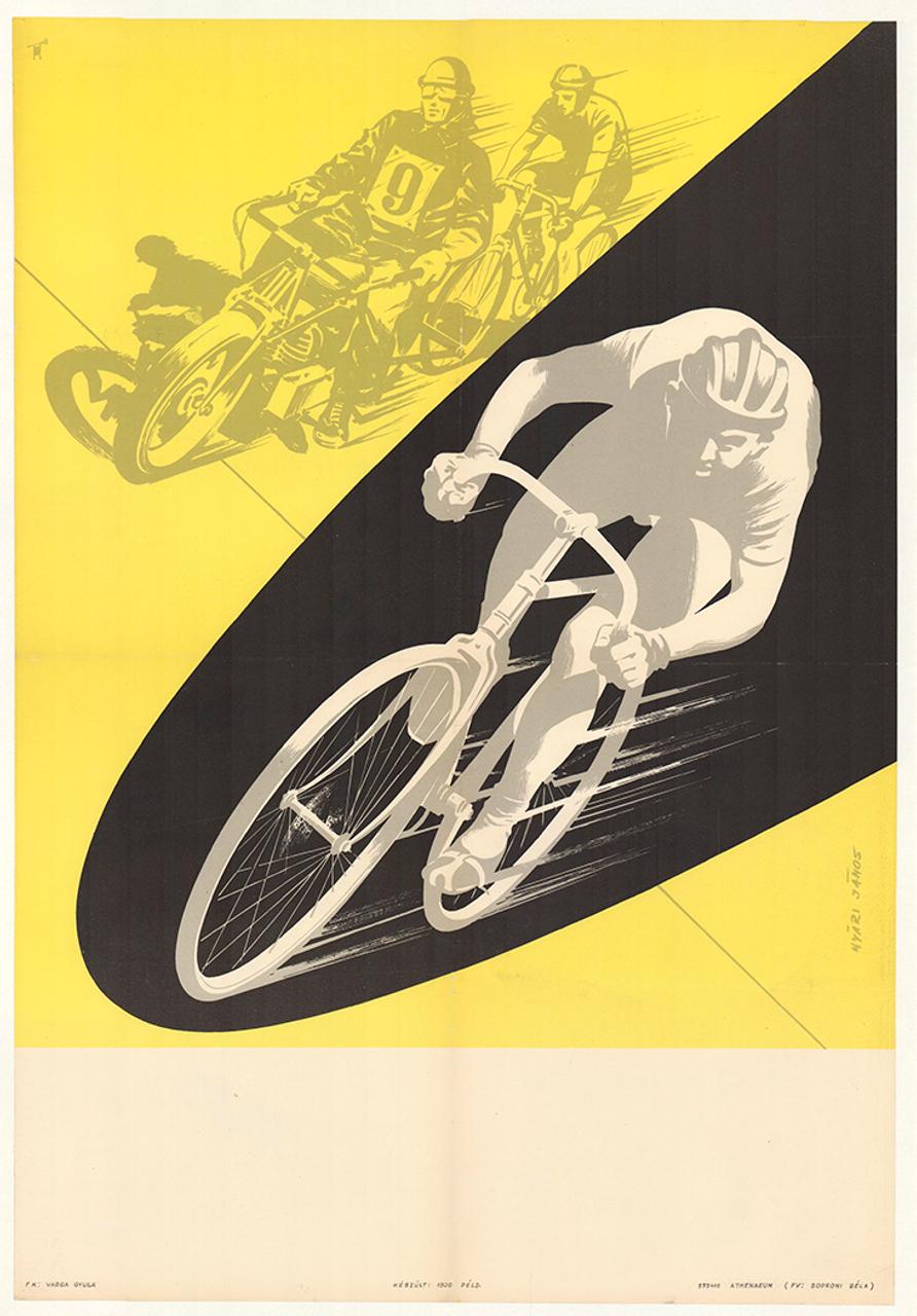 Motor Pacing Original Vintage Bicycle Poster Proof