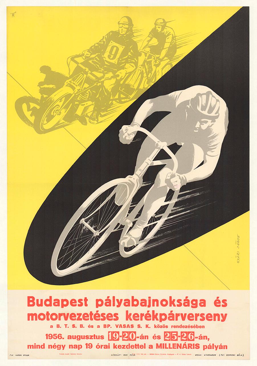 Youth Cup Motor Pacing Original Vintage Bicycle Poster