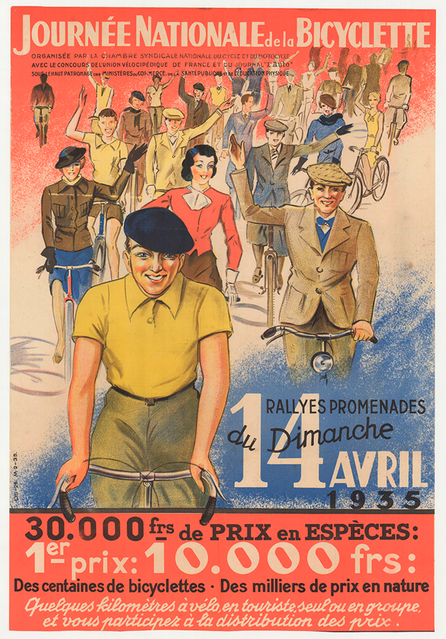 Journee Nationale Original Vintage Bicycle Poster