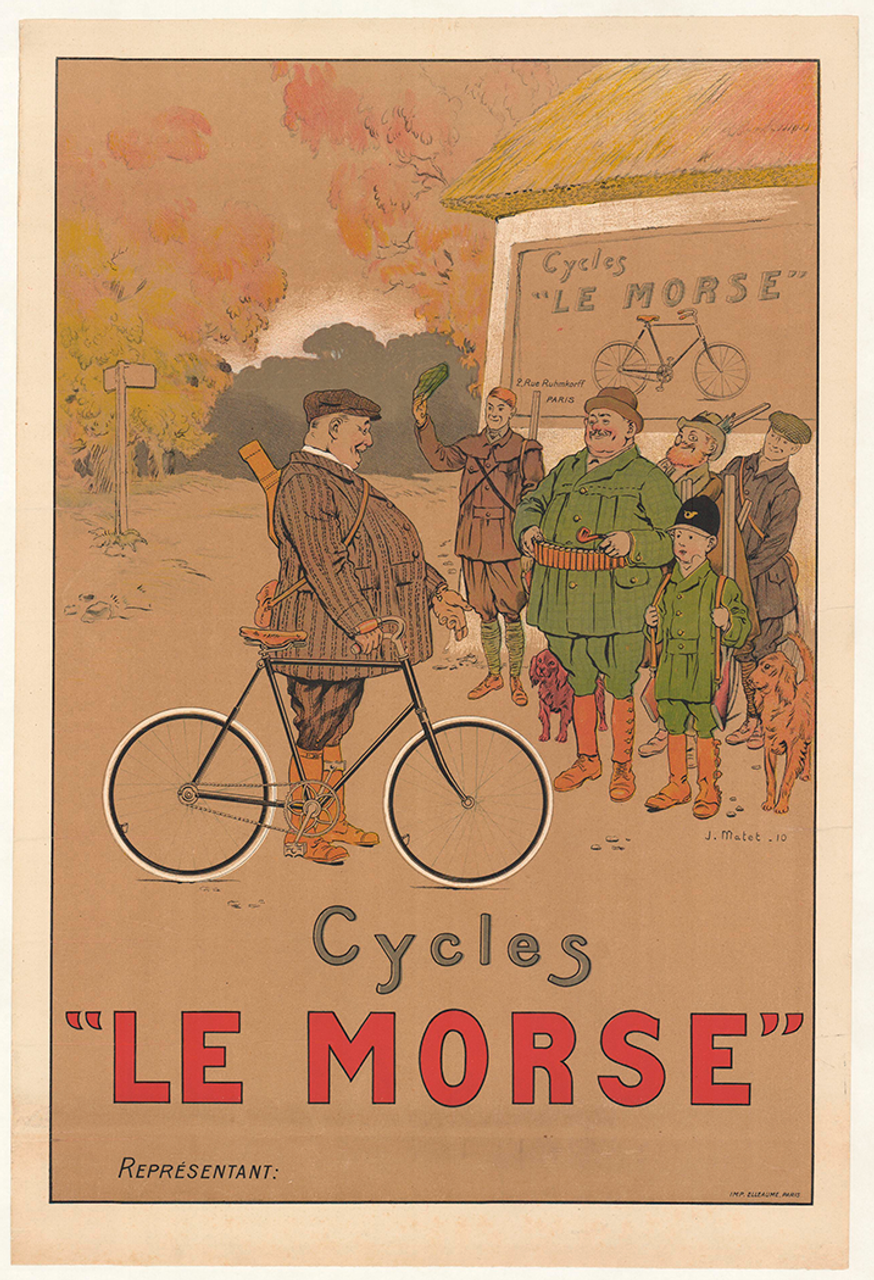 Le Morse Original Vintage Bicycle Poster by J. Matet