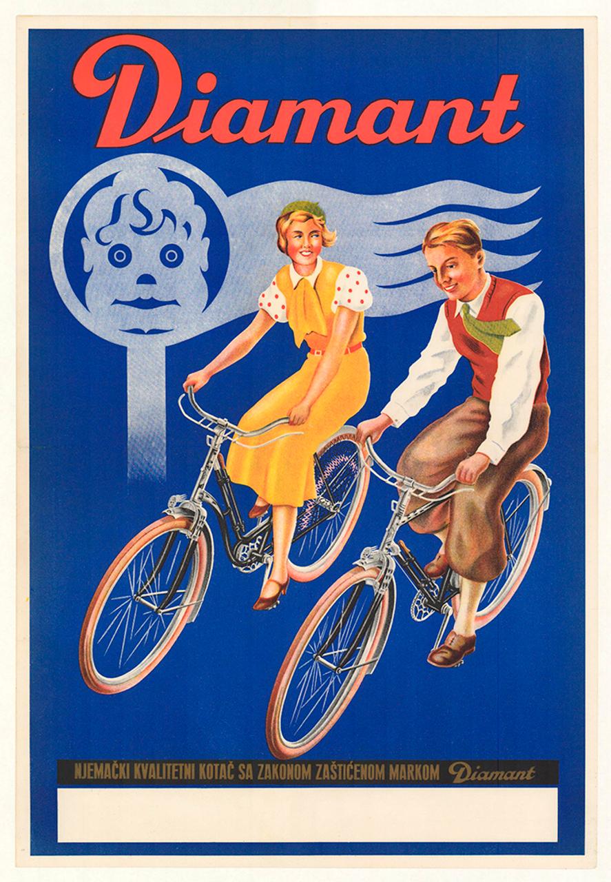 Diamant Original Vintage Bicycle Poster