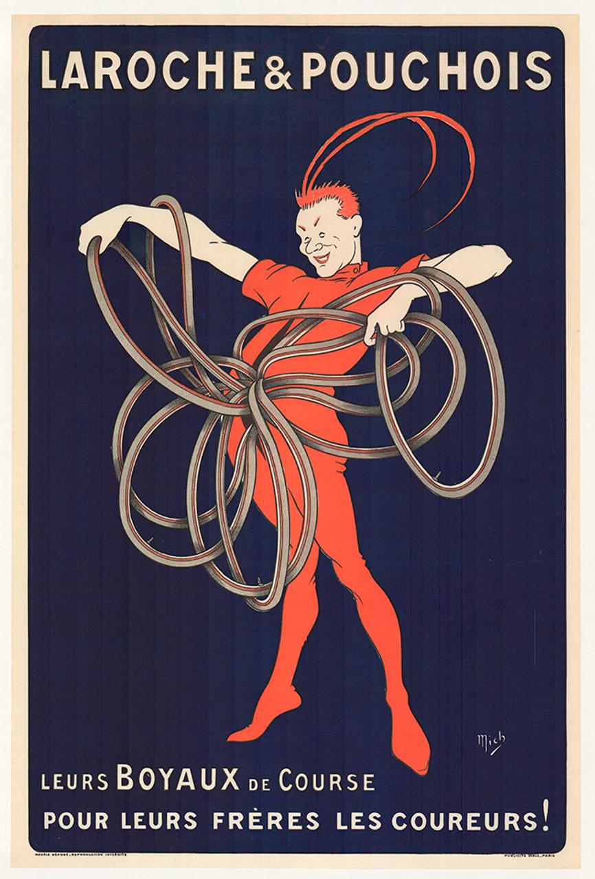 Laroche & Pouchois Original Vintage Bicycle Poster by Mich