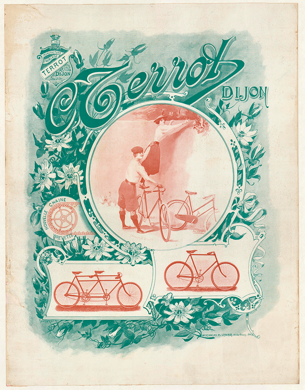 C Terrot Dijon Original Vintage Bicycle Poster