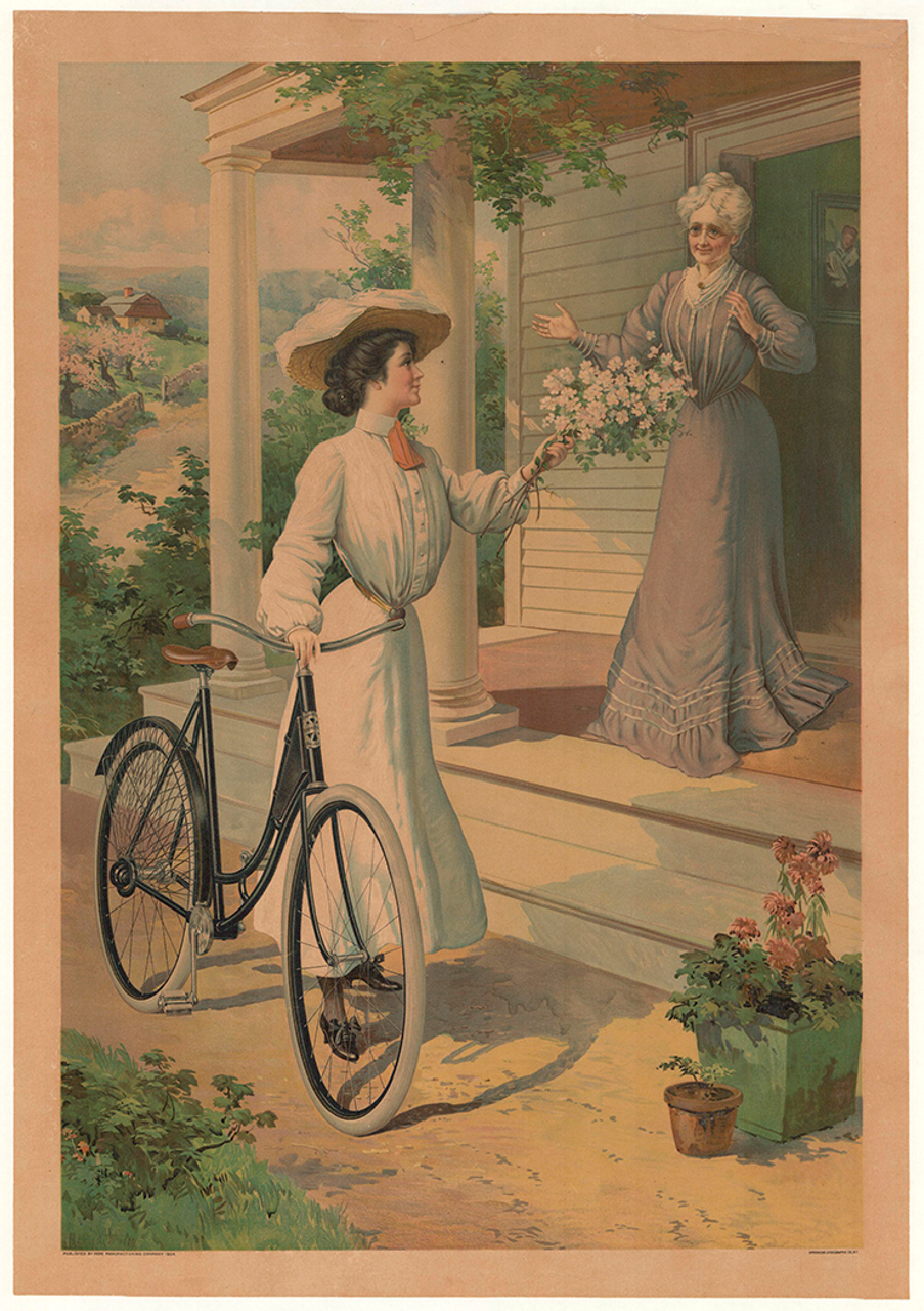 Pope Manufacturing Original Vintage American Bicycle Poster