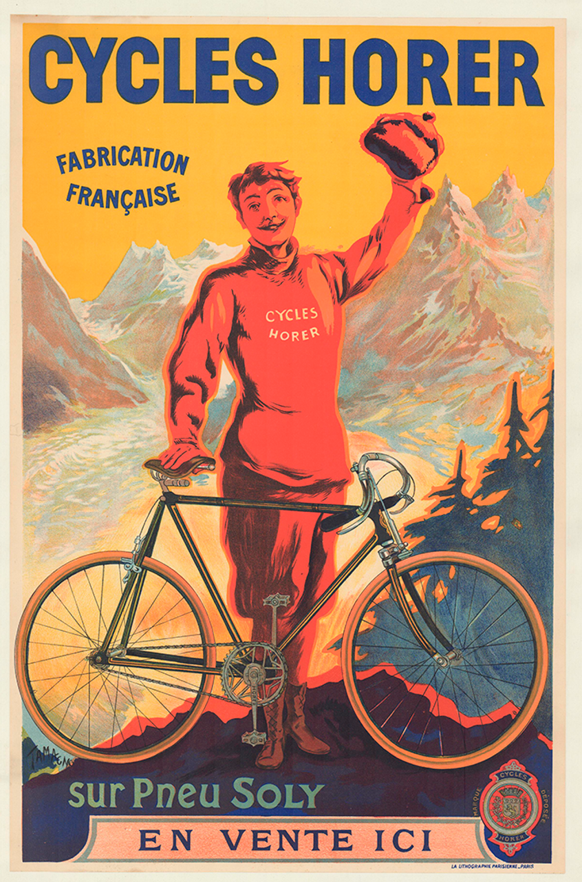 Cycles Horer Original Vintage Bicycle Poster by Tamagno