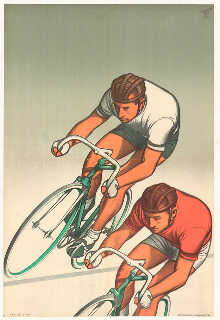 Racers Original Vintage Bicycle Poster Proof